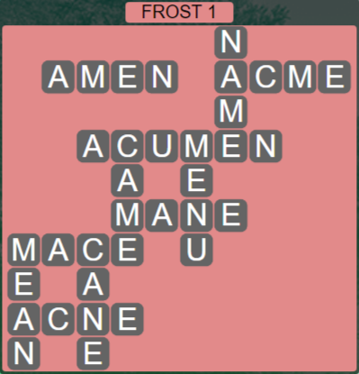 Wordscapes Ice Frost 1 - Level 2801 Answers
