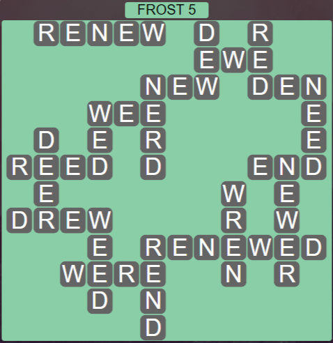 Wordscapes Ice Frost 5 - Level 2805 Answers