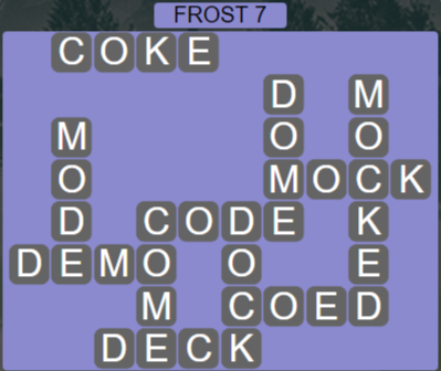 Wordscapes Ice Frost 7 - Level 2807 Answers