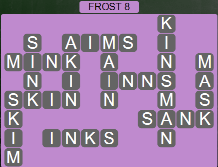 Wordscapes Ice Frost 8 - Level 2808 Answers