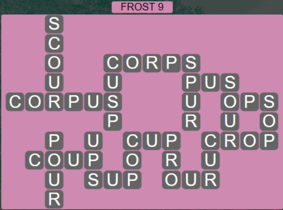 Wordscapes Ice Frost 9 - Level 2809 Answers
