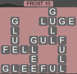 Wordscapes Ice Frost 10 - Level 2810 Answers