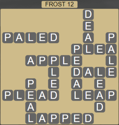 Wordscapes Ice Frost 12 - Level 2812 Answers
