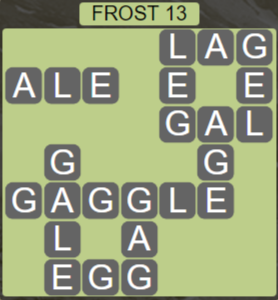 Wordscapes Ice Frost 13 - Level 2813 Answers