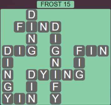 Wordscapes Ice Frost 15 - Level 2815 Answers