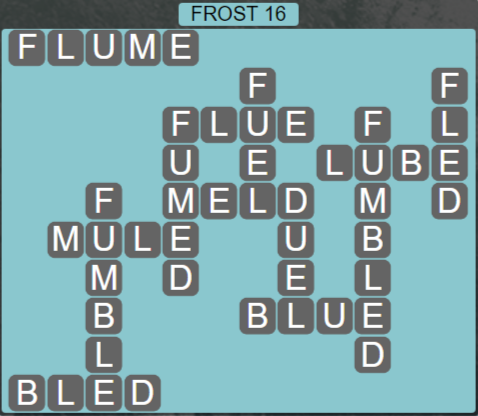 Wordscapes Ice Frost 16 - Level 2816 Answers
