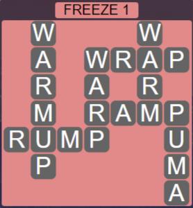 Wordscapes Ice Freeze 1 - Level 2817 Answers