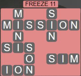 Wordscapes Ice Freeze 11 - Level 2827 Answers