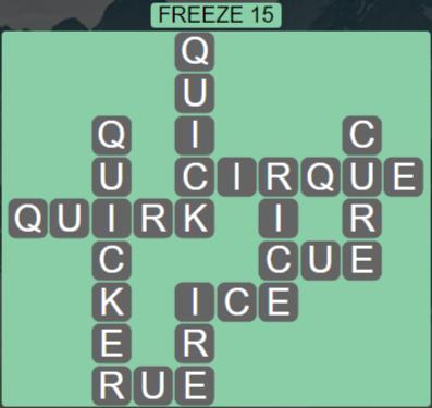 Wordscapes Ice Freeze 15 - Level 2831 Answers