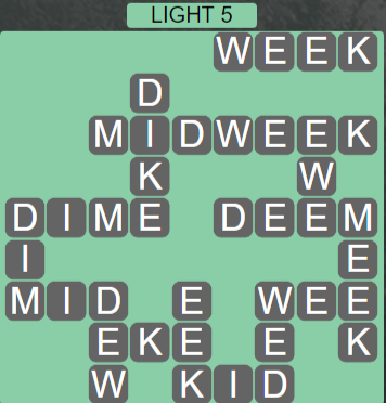 Wordscapes Ice Light 5 - Level 2837 Answers