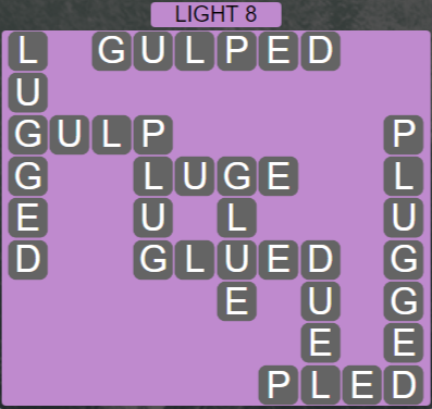 Wordscapes Ice Light 8 - Level 2840 Answers