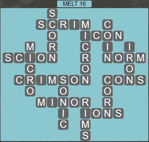 Wordscapes Ice Melt 16 - Level 2864 Answers