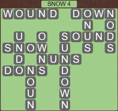 Wordscapes Ice Snow 4 - Level 2868 Answers