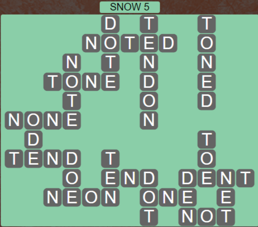 Wordscapes Ice Snow 5 - Level 2869 Answers