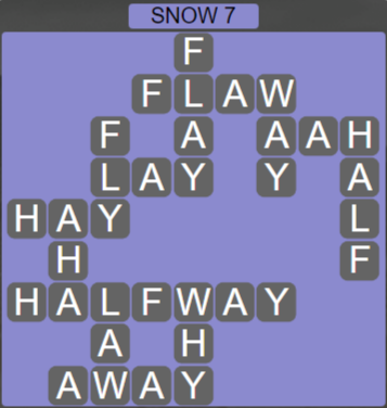 Wordscapes Ice Snow 7 - Level 2871 Answers
