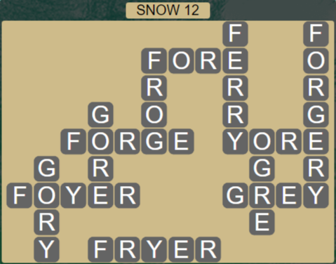 Wordscapes Ice Snow 12 - Level 2876 Answers