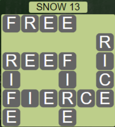 Wordscapes Ice Snow 13 - Level 2877 Answers