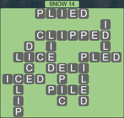 Wordscapes Ice Snow 14 - Level 2878 Answers