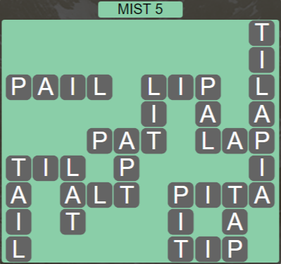 Wordscapes Bloom Mist 5 - Level 2885 Answers