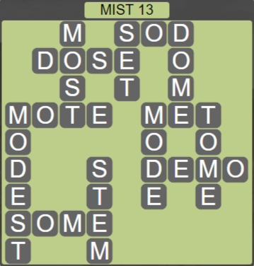Wordscapes Bloom Mist 13 - Level 2893 Answers