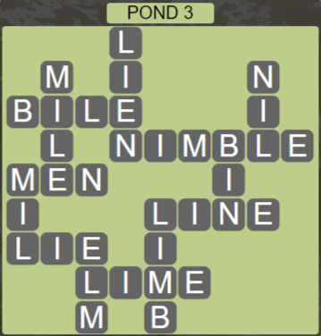 Wordscapes Bloom Pond 3 - Level 2899 Answers