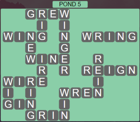 Wordscapes Bloom Pond 5 - Level 2901 Answers