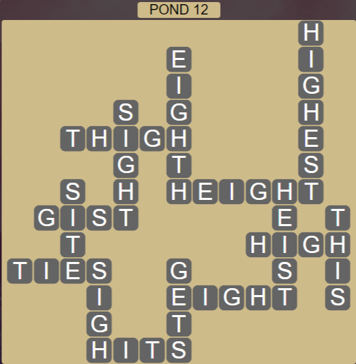 Wordscapes Bloom Pond 12 - Level 2908 Answers