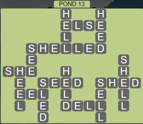 Wordscapes Bloom Pond 13 - Level 2909 Answers