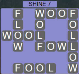 Wordscapes Bloom Shine 7 - Level 2919 Answers