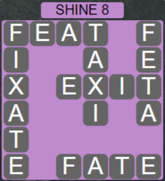 Wordscapes Bloom Shine 8 - Level 2920 Answers
