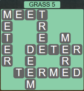 Wordscapes Bloom Grass 5 - Level 2933 Answers