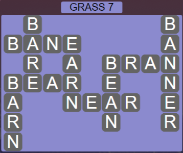 Wordscapes Bloom Grass 7 - Level 2935 Answers