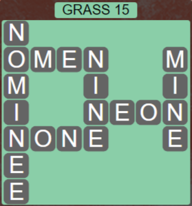 Wordscapes Bloom Grass 15 - Level 2943 Answers