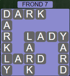 Wordscapes Bloom Frond 7 - Level 2951 Answers
