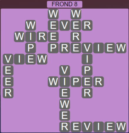 Wordscapes Bloom Frond 8 - Level 2952 Answers