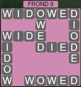 Wordscapes Bloom Frond 9 - Level 2953 Answers