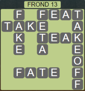 Wordscapes Bloom Frond 13 - Level 2957 Answers