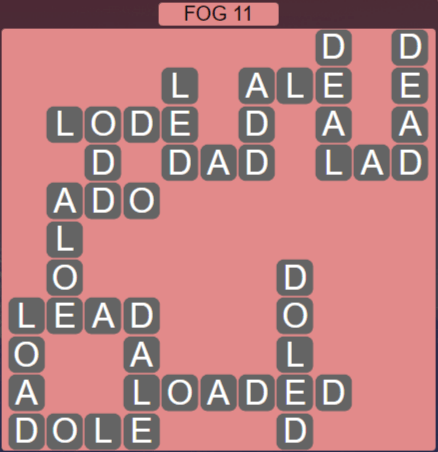 Wordscapes Fall Fog 11 - Level 2971 Answers