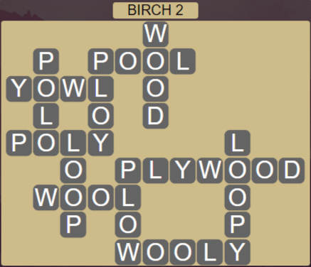 Wordscapes Fall Birch 2 - Level 2978 Answers