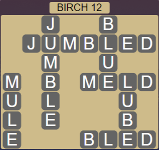 Wordscapes Fall Birch 12 - Level 2988 Answers