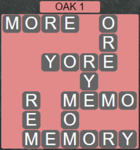 Wordscapes Fall Oak 1 - Level 3009 Answers