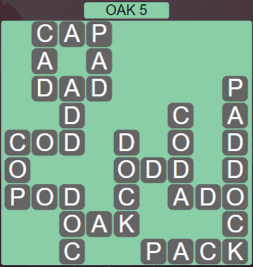 Wordscapes Fall Oak 5 - Level 3013 Answers