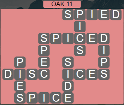 Wordscapes Fall Oak 11 - Level 3019 Answers