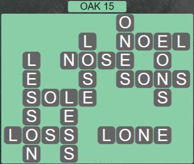 Wordscapes Fall Oak 15 - Level 3023 Answers