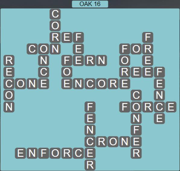 Wordscapes Fall Oak 16 - Level 3024 Answers