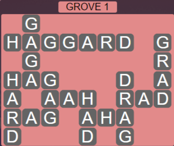 Wordscapes Fall Grove 1 - Level 3025 Answers