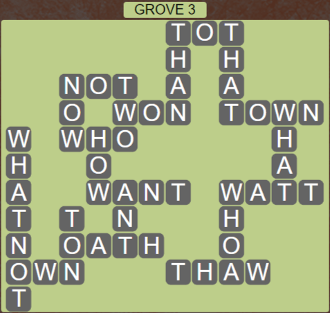 Wordscapes Fall Grove 3 - Level 3027 Answers
