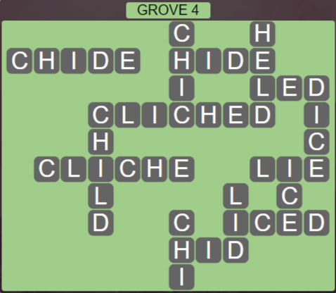 Wordscapes Fall Grove 4 - Level 3028 Answers