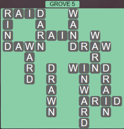 Wordscapes Fall Grove 5 - Level 3029 Answers