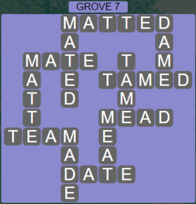 Wordscapes Fall Grove 7 - Level 3031 Answers